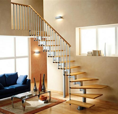Omurgalı ahşap merdiven 04