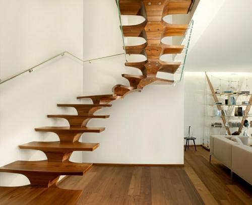 Omurgalı ahşap merdiven 02